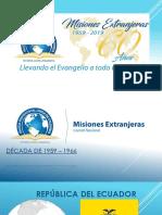 Misiones 60 Años iglesia pentecostal de Colombia