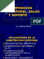 Composición Corporal Salud y Deporte - Lic Karina Gavini.ppt