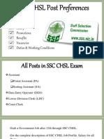 SSC CHSL Post Preferences