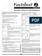 Tackling Exam Questions - Plant Growth Substances