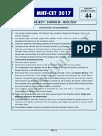 Vidyalankar MHT CET 2017 Biology Paper Solution