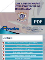 Regulatory Requirnment and Approval Procedure of Drugs in Japan Ppt