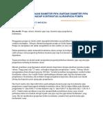 Pengaruh Perbedaan Diameter Pipa Isapdan Diameter Pipa Pengeluaranterhadap Kontinuitas Aliranpada Pompa Vakum
