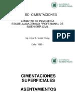 CURSO-CIMENTACIONES (ASENTAMIENTOS)