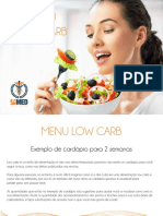 Cardapio Low Carb