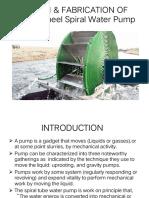 Design & Fabrication of Water Wheel Spiral Water12346