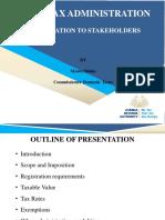 Presentation Sales Tax Stakeholder Meetings 03052019