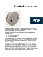 mantenimiento de detectores de humo