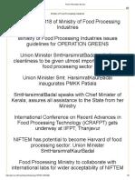 2018 Food Processing Industries