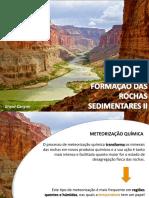 PPT - Formação Das Rochas Sedimentares_II
