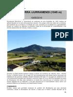 20190519 Ruta de Lizarra - Notas