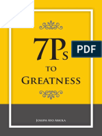 7Ps To Greatness