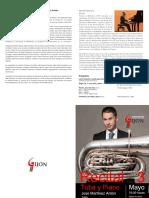 Programa concierto tuba y piano Jose Martínez Antón en Gijón