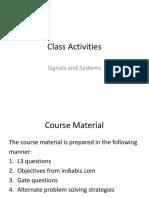 Class Activities PPT