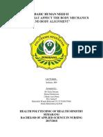 BASIC HUMAN NEED II MAKALAH BODY ALIGNMENT.docx