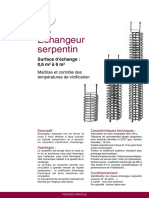 Fiche Technique Echangeur Serpentin