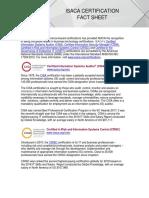 Certification Fact Sheet 1118