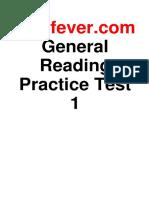 Ielts Fever General Reading Practice Test 1
