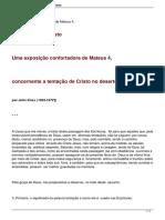 A Tentacao de Cristo John Knox