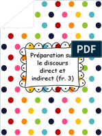 Discours Direct Indirect