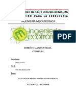 Selección de Brazos Robóticos Industriales.
