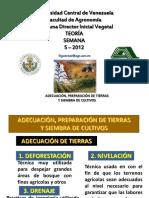 Agricola Adecuacion Preparacion de Tierras y Siembra de Cultivos Ucv