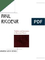 (Rhetoric in the Modern Era) Andreea Deciu Ritivoi - Paul Ricoeur_ Tradition and Innovation in Rhetorical Theory-State University of New York Press (2006).pdf