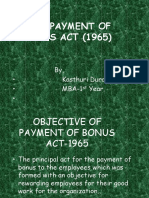 Business Law (PAYMENT OF BONUS ACT- 1965)