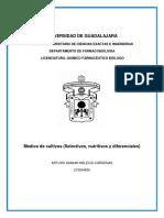 Medios de Cultivo-Nutritivos, Selectivos y Diferenciales.