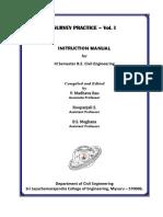 Survey Lab Manual Vol. 1