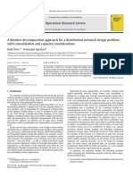 2.2) a Benders Decomposition Approach for a Distribution Network Design Problem With Consolidation and Capacity Considerations