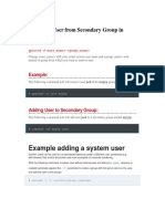 Removing User From Secondary Group in Linux