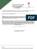 Certificado de Policía Carlos