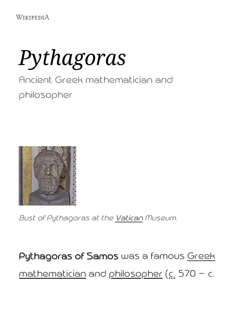 A Platonic Pythagoras. Platonism and Pythagoreanism in the Imperial Age