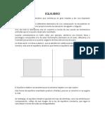 Informe de Equilibrio, Centro de Gravedad y Estabilidad