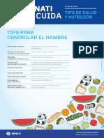 Boletín STC N°35 -  Abril- Tips para controlar el hambre