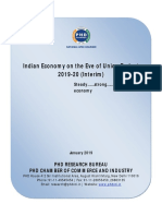 Report on Indian Economy on the Eve of Union Budget