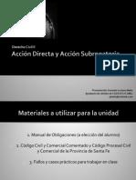 Acción Directa y Acción Subrogatoria