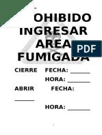 Cartel Fumigacion