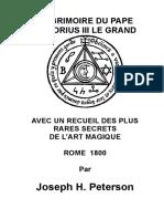 Pape Honorius Le Grimoire t2