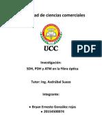 SDH, PDH y ATM en la Fibra óptica Asignacion2.docx