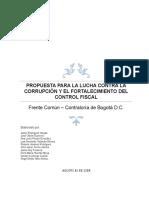 Propuesta Fortalecimiento Control Fiscal Con Aportes Agosto 16 de 2018 (1)