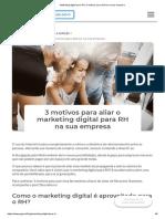 Marketing Digital Para RH_ 3 Motivos Para Aliá-los Na Sua Empresa