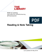 Reading and Note Taking