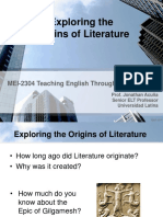 Exploring the Origins of Literature