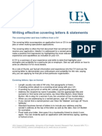 Writing Effective Covering Letters