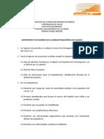 Anteproyecto de Normas de La Unidad Psiquiátrica de Agudos