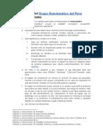 Normas Del Grupo Numismático Del Perú