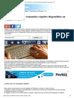 Lista de Todos Los Comandos Rápidos Disponibles en Windows 7 y 8