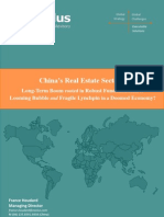 China's Real Estate Sector –  Long-Term Boom rooted in Robust Fundamentals, or Looming Bubble and Fragile Lynchpin in a Doomed Economy?